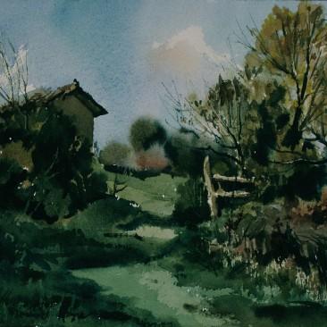 C.07/008 Vereda hacia el monte. Salazar (Burgos) (2-1995) 23x31